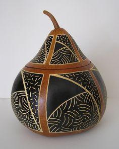 Simple lidded bowl by Susan K. Burton.