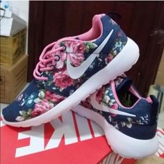 Custom Floral roshe run. Custom floral roshes sz 8.5 comes with no box no trades please. Nike Shoes Athletic Shoes