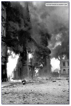 Within These Walls / Book Week 2017 / Polish Tragedy: Warsaw Uprising of Warsaw burns during the uprising.- photographical history of the place the book is set Poland Ww2, Invasion Of Poland, Warsaw Poland, Warsaw Ghetto Uprising, Poland History, Pictures Images, World War Two, Old Photos, Wwii
