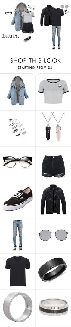 """""""Sin título #82"""" by therawtruth on Polyvore featuring moda, WithChic, Topshop, Bling Jewelry, Vans, RtA, Forever 21, Versace, Blue Nile y Edge Only"""