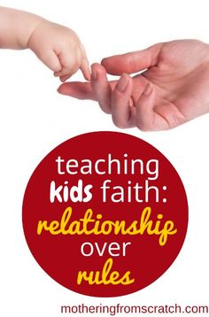 """Do you want your kids to have faith that STICKS? Faith that they actually live out passionately? This post outlines some practical ways for moms to focus on relationship with Jesus rather than a list of life-draining """"dos and don'ts"""". You won't want to miss it!"""