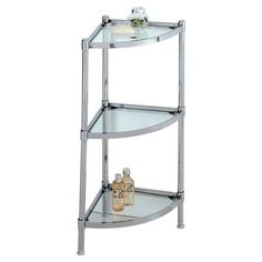 Found It At Wayfair Glacier Corner Etagere In Chrome Find This Pin And More On Bathroom Shelf Unit
