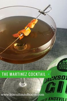 The Martinez Cocktail is a classic gin cocktail, t…Edit description