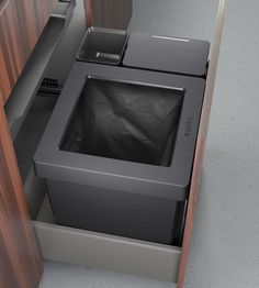 The flexible waste system for any drawer pull-out Kitchen Equipment, Piece Of Cakes, Drawer Pulls, Kitchen Appliances, Storage, Product Design, Innovation, Nice, Modern Closet