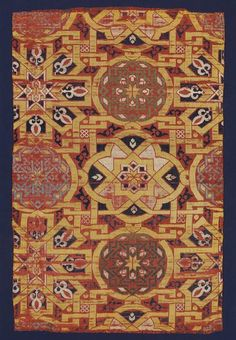 Lampas silk Place of origin: Spain (made) Date: century (made) Artist/Maker: Unknown (production) Materials and Techniques: Silk thread in lampas weave Museum number: Gallery location: In Storage Marrakech, Century Textiles, Classical Antiquity, Fabric Rug, Fabric Remnants, Medieval Art, Medieval Tapestry, Medieval Clothing, Renaissance Paintings