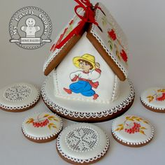 Gingerbread house for the teacher of the Ukrainian language.