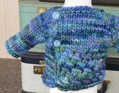 Speedy Topper pattern by Taiga Hilliard Designs. malabrigo Rasta in Azules colorway.