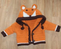 Häkelanleitung für die Fuchsjacke / diy knitting instruction for kids jacket by Fräulein Butterblume via DaWanda.com