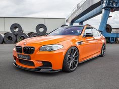 800-HP BMW M5 Comes Dripping In Orange Carbon