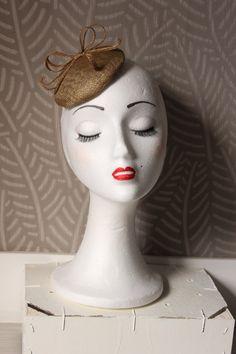 Gold Fascinator Hat, Mini Gold Hat,Gold Headpiece, gold headdress, gold beret, gold millenery, round fascinator with bow,Wedding fascinator  by Lolacoqueta on Etsy https://www.etsy.com/ca/listing/259553767/gold-fascinator-hat-mini-gold-hatgold