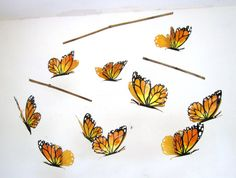 Mobile Baby Crib Mobile Butterfly Mobile hanging mobile for babies and children nursery mobile nursery art decor