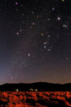 Night sky over West Bishop, California