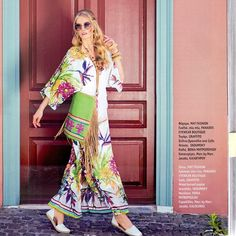 "Real woman know that every look needs a feminine flourish! This summer, romantic, exotic and electric floral motifs have never looked so modern! #matfashion #floral #dress #inspiration as seen in ""best in town ATHENS"" #magazine last issue • #realsize #fashion #mat_summer15 #collection #tropical #editorial #instafashion #ootd #plussizefashion #Athens"