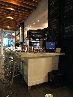 Mercatto in Toronto. Enomatic wine dispenser.