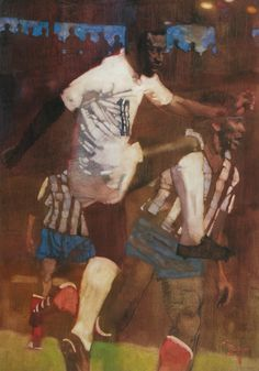 Pelé painting by Bernie Fuchs