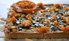 Orkiszowa Kuchnia Anny: Mazurek pomarańczowy na kruchym spodzie