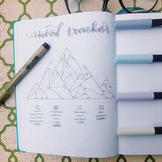 "45 Likes, 4 Comments - Megan Reed (@megobujos) on Instagram: ""Tried to come up with a unique mood tracker. I wanted it to be something I loved. So I decided on…"""