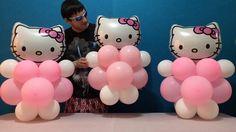Easy Hello Kitty Balloon Decorations!