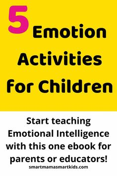Smart Mama Smart Kids: Wondering how to manage preschooler emotions? Teach your child emotional intelligence with the Emotion Activities for Children ebook. Includes 5 preschooler or toddler activities to begin teaching your child to manage their emotions. #parenting #preschool #toddler #managingemotions #behaviour