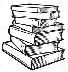 Book Clip Art, Pile Of Books, Book Drawing, Whimsical Art, Digital Art, Bullet Journal, Journal Ideas, Drawings, Bing Images