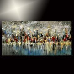 ABSTRACT city PAINTING palette KNIFE modern nyc ORIGINAL art TATIANA new york 48 Be Sure To Visit: http://universalthroughput.imobileappsys.com/