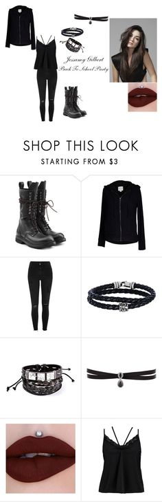 """Back To Scool Party -Jessamy Gilbert-"" by amber-lee-bambi-bonnar on Polyvore featuring Rick Owens, Velvet by Graham & Spencer, River Island, Phillip Gavriel, Fallon and Boohoo"