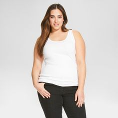 577ae1dafdd Form flattering and fun the Women s Plus Size Tank Top - Ava and Viv is a