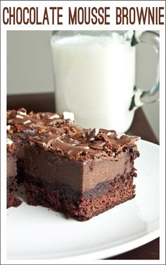 Chocolate mousse brownie