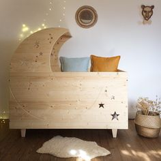 These moon shaped baby crib ideas are what you need to see if you are to be a parent soon. You can even DIY your own moon shaped cradle.