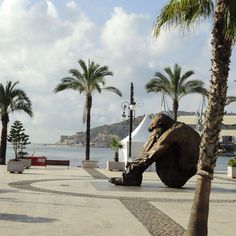 On the waterfront of Cartagena, Spain