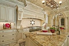million dollar rooms - Fancy Kitchens, Luxury Kitchens, Home Kitchens, Dream Kitchens, Atlanta Mansions, Luxury Mansions, Luxury Homes, Million Dollar Rooms, Mediterranean Kitchen
