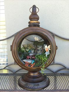 Fairy garden in a Lantern.. Including Video.. By Fairytale Gardens.