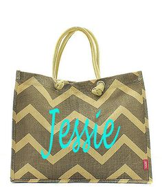 Monogram Juco Tote - Gray Chevron - Jute is all the rage and since we are so trendy (at least in our minds), we love this jute tote and know you will too! Monogram Tote Bags, Jute Bags, Grey Chevron, Large Tote, Monograms, Travel Bag, Louis Vuitton Damier, Purses And Bags, Diaper Bag