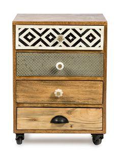Karli Modern Designer 4 Drawer Bedside Table