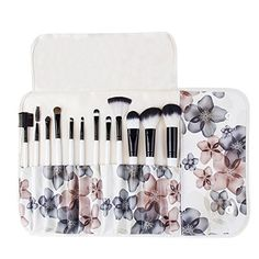 Unimeix Professional 12 Pcs Makeup Cosmetics Brushes Set Kits with Flower (Black Flower) Pattern Case * Continue to the product at the image link.