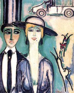 Kees van Dongen - The Elegant Couple, c. 1918-20