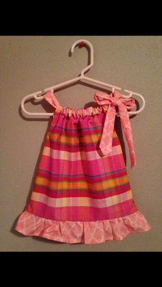 Pillow Case Dress  Size: Newborn Peach Pink Blue by Sewn4ACause