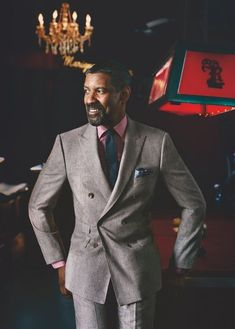 """gentlemanstravels:  """"Denzel Washington rocking it  """""""
