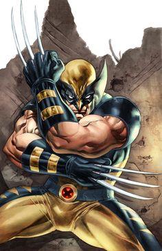 Wolverine ( X-Men ) // Marvel // Art Marvel Wolverine, Logan Wolverine, Marvel Comics Art, Marvel Vs, Marvel Heroes, Comic Book Characters, Comic Book Heroes, Marvel Characters, Comic Character