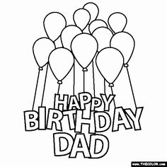 Happy Birthday Daddy Coloring Pages Awesome Happy Birthday Mom Coloring Page Coloringpagebase Happy Birthday For Her, Happy Birthday Cupcakes, Daddy Birthday, Happy Birthday Gifts, Happy Birthday Quotes, Free Birthday, Birthday Ideas, Happy Birthday Printable, Birthday Signs