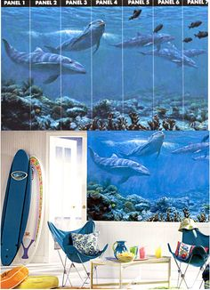 1000 images about sea life and ocean room decor on for Dolphin paradise wall mural
