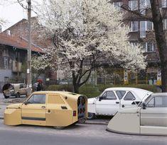 """""""Four Aérofiat Spring"""" Alain Bublex - 2002"""