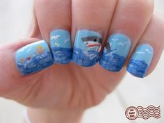Shark nails. ... awesome!