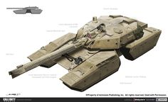 A MBT (Main Battle Tank) design that ended up as the Selva Tigre in Call of Duty: Ghosts. Futuristic Armour, Futuristic Cars, Military Gear, Military Weapons, Army Vehicles, Armored Vehicles, Tank Armor, Future Weapons, Sci Fi Weapons