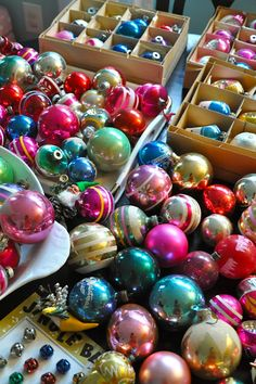 Vintage Christmas ornaments.                                                                                                                                                                                 More
