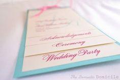 layered wedding programs