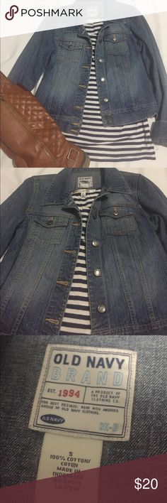 Old Navy, size Small, Jean jacket Cute. Fall-ish. Light colored. Hardly worn. Great condition. Perfect staple to add to your wardrobe for those chilly days. Old Navy Jackets & Coats Jean Jackets