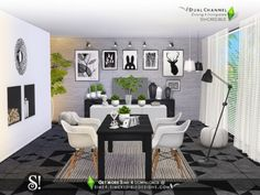 Dual Channel diningroom by SIMcredible  by TSR for The Sims 4