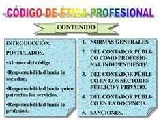CÓDIGO DE ÉTICA PROFESIONAL<br />CONTENIDO<br />NORMAS GENERALES.<br />DEL CONTADOR PÚBLI-CO COMO PROFESIO-NAL INDEPENDIENTE.<br />DEL CONTADOR PÚBLI-CO EN ...