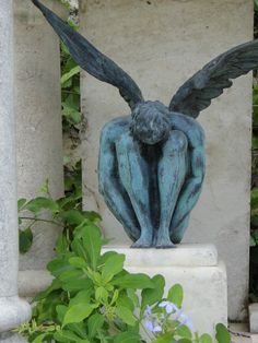Angel sculpture from a cemetery in Mexico.